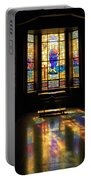 Mausoleum Stained Glass 06 Portable Battery Charger
