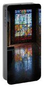Mausoleum Stained Glass 08 Portable Battery Charger