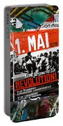 May Day 2012 Poster Calling For Revolution Portable Battery Charger