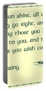 May The Sun Shine - Irish Blessing Portable Battery Charger