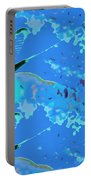 Mayfly Abstract Blue Portable Battery Charger