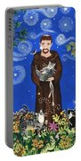 May's St. Francis Portable Battery Charger by Sue Betanzos