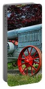 Mccormick Deering Red-wheeled Tractor Portable Battery Charger
