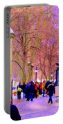Mcgill Campus Eager Students Enter Roddick Gates Montreal Collectible Art Prints Carole Spandau  Portable Battery Charger