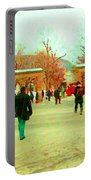 Mcgill Univ Students And Faculty College Campus Montreal Memories Collectible Art Prints C Spandau Portable Battery Charger