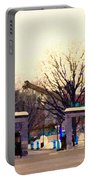 Mcgill University The Night Shift Arrives Sherbrooke Downtown Montreal Scenes Carole Spandau  Portable Battery Charger