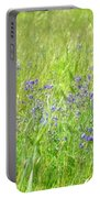 Meadow Lupine Portable Battery Charger