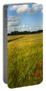 Meadow Of Poppies Portable Battery Charger