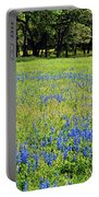 Meadows Of Blue And Yellow. Texas Wildflowers Portable Battery Charger