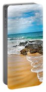 Meandering Waves On Tropical Beach Portable Battery Charger
