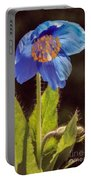 Meconopsis Himalayan Blue Poppy Portable Battery Charger