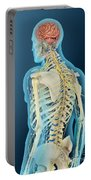 Medical Illustration Of Human Brain Portable Battery Charger