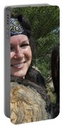 Medieval Barbarian Eriana Iceni And Spirit Portable Battery Charger