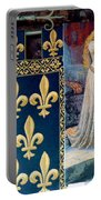 Medieval Tapestry Portable Battery Charger by France  Art