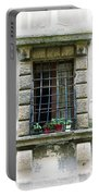 Medieval Window With Iron Grilles Portable Battery Charger