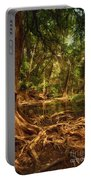 Medina River Cypress Trees Portable Battery Charger