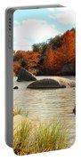 Fall Cypress At Bandera Falls On The Medina River Portable Battery Charger
