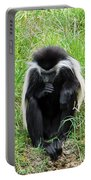 Meditating Monkey Portable Battery Charger