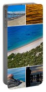 Mediterranean Coast Collage Portable Battery Charger