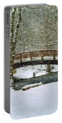 Meeks Park Bridge In Snow Portable Battery Charger