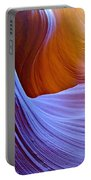 Meeting Of The Curves In Lower Antelope Canyon In Lake Powell Navajo Tribal Park-arizona  Portable Battery Charger
