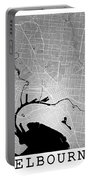 Melbourne Street Map - Melbourne Australia Road Map Art On Color Portable Battery Charger