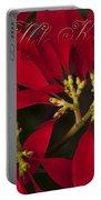 Mele Kalikimaka - Poinsettia  - Euphorbia Pulcherrima Portable Battery Charger