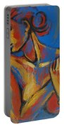 Mellow Yellow- Female Nude Portrait Portable Battery Charger