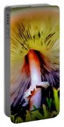 Mellow Yellow Mushroom Portable Battery Charger by Karen Wiles