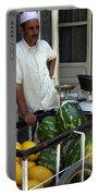 Melon Seller Old Medina Fez Morocco Portable Battery Charger