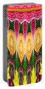 Melting Lily And Chrysanthemums Abstract Portable Battery Charger