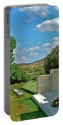 Memorial In Anzak Cemetery Along The Dardenelles In Gallipolii-turkey Portable Battery Charger