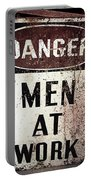 Men At Work Sign Portable Battery Charger