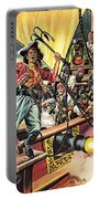 Men Of The Jolly Roger Portable Battery Charger by Ron Embleton