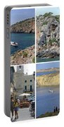 Menorca Collage 02 - Labelled Portable Battery Charger