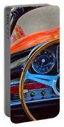 Mercedes-benz 300 Sl Steering Wheel Emblem Portable Battery Charger