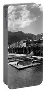 Merchants Wharf In Black And White Portable Battery Charger