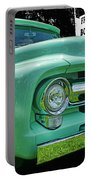Mercury Truck Bw Background Portable Battery Charger