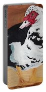 Merganser Duck Painted On Cedar Portable Battery Charger