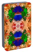 Merging Consciousness With Abstract Artwork By Omaste Witkowski  Portable Battery Charger
