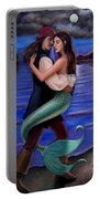 Mermaid And Pirate's Caribbean Love Portable Battery Charger