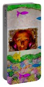 Mermaid In Her Cave Portable Battery Charger