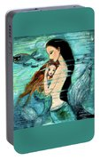 Mermaid Mother And Child Portable Battery Charger