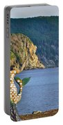 Mermaid On A Dock In Twillingate Harbour-nl Portable Battery Charger