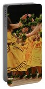 Merrie Monarch Hula Dancers In Yellow Dresses Portable Battery Charger