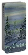 Merry Christmas - Snowy Winter Evening Portable Battery Charger