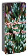 Merry Christmas 2 Portable Battery Charger by Skip Nall