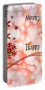 Merry Christmas And Happy New Year Portable Battery Charger