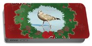 Merry Christmas Greeting Card - Young Seagull Portable Battery Charger