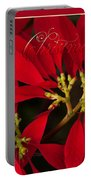 Merry Christmas - Poinsettia  - Euphorbia Pulcherrima Portable Battery Charger